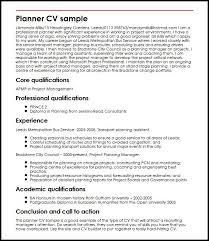 Planner CV sample
