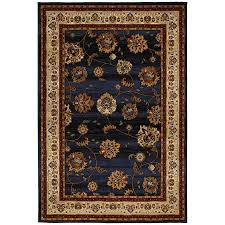 mohawk home select versailles orient express rectangular blue transitional woven area rug common 8