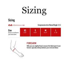 Mcdavid Compression Arm Sleeve Sizing Chart Mcdavid Compression Arm Sleeve Single 656