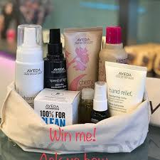 you can win this awesome gift basket full of aveda goos how
