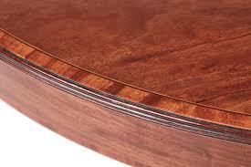 mahogany inlaid round centre table