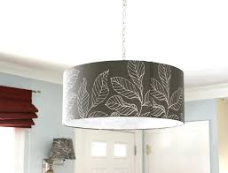 meri drum chandelier interior black with artistic white leaf painting decoration for stunning knock off