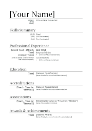 Resume Template For Word Best Cv Template Word