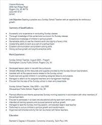 resume for school teacher