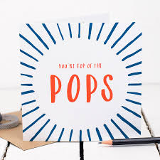 Top Of The Pops Fathers Day Card By Bespoke Verse
