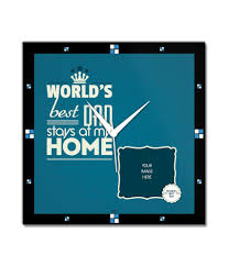 bluegape fathers day gifts blue wooden personalised blue photo wall clock 1 pc