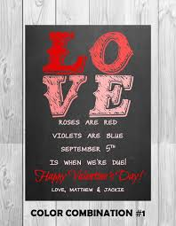 valentines day pregnancy announcement cards chalkboard pregnancy announcement card by mmasondesigns on etsy
