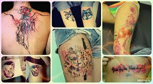 акварельные татуировки фото примеры лучших тату