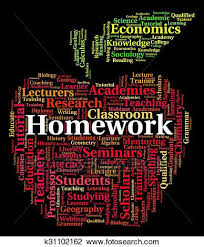 homework word homework word shows study assignment and education drawing