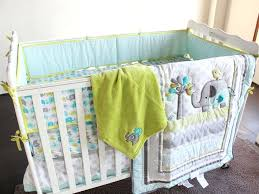 green crib bedding elephant crib bedding boy