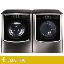 lg washer and dryer. lg signature 5.8cuft mega capacity washer 9.0cuft electric turbosteam dryer in black lg and n