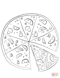 Small Picture Coloring Download Coloring Page Of Pizza Coloring Page Of Pizza