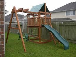 triton diy wood fort swingset plans jack s backyard