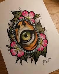 эскиз глаза тигра эскизы татуировок