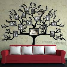 tree painted on wall with picture frames family diy painting metal decor best family tree wall frame