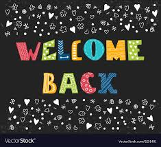 Welcome Back Graphics Welcome Back Lettering Text Hand Drawn Design
