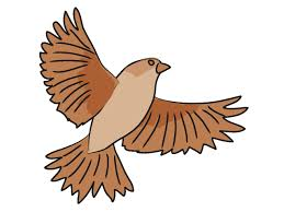 flying sparrow clipart. Modren Flying Inside Flying Sparrow Clipart O