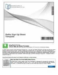 Sign Up Sheet Template Forms - Fillable & Printable Samples For Pdf ...