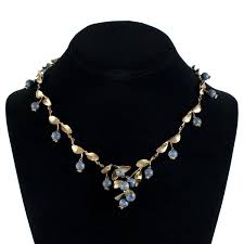 michael michaud jewelry blueberry necklace large
