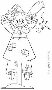 Fall Scarecrow Coloring Pages And Word Search Activities Elderly