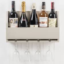 wall mounted wine glass rack bottles glasses holder bar kitchen storage shelf 1 of 4free
