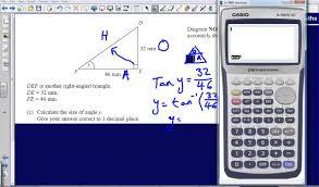 pythagoras and trigonometry question 14 2008 edexcel gcse maths calculator paper solution you