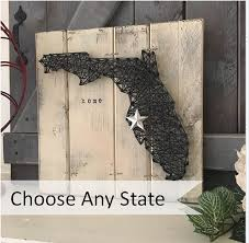 state outline state wall art state string art by
