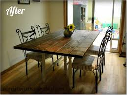Rustic White Kitchen Table Wood And Wrought Iron Dining Room Sets The New Solid Wood Dining