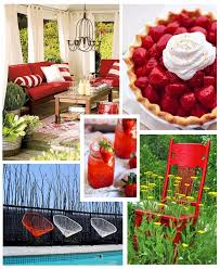 decorating with red furniture. contemporary red colors for summer decorating  red decor throughout with furniture