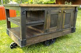 kitchen island cart industrial. Industrial Steampunk Style Hand Made Factory Cart Kitchen Island Y