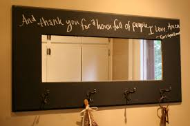 decoration: Creative Letter Patterned On Gorgeous Diy Mirror Ideas Which Is  Painted In Brown And