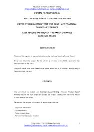 Business Report Writing Format For Students Example Nanozine   Masir