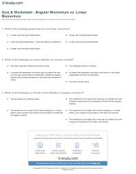 linear momentum worksheet