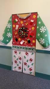 office door christmas decorating ideas. ugly sweater holiday door decoration office christmas decorating ideas