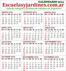 Calendario 2015 Argentina Feriados 2014 Argentina Almanaque Para Imprimir