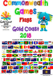 Flag Chart With Names Commonwealth Games Gold Coast 2018 Competitors Flags