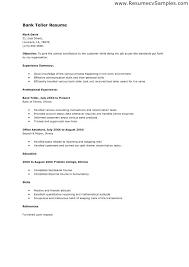 sample resume for teller sample resume for bank teller sample resume bank  teller resignation letter .