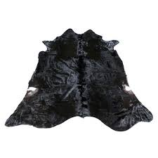 cowhide rug large black and white faux rugs for nz