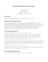 Examples Of Retail Resumes Beauteous Example Of Retail Resume Objective For Sample Examples Good Best