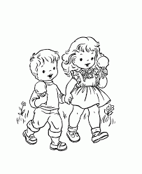 Extraordinary Little Boy And Girl Coloring Pages Modern 45670 Free