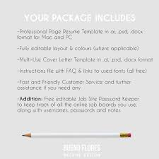 Resume Template Peter Parker By Bueno Flores Design