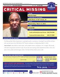 """DC Police Department on Twitter: """"****Silver Alert**** Critical ..."""