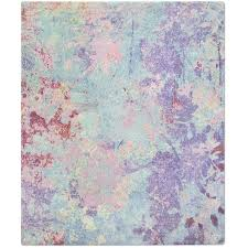 silhouette purple hand knotted tibetan contemporary abstract rug wool silk for