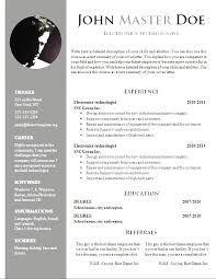 Resume Templates Free Download Simple Cv Templates Free Download Word Document Professional Resume