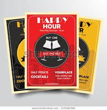 Happy Hour Flyer Happy Hour Flyer Template Vector Stock Vector Royalty Free