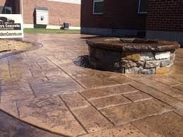 stamped concrete patio with fire pit cost. Stamped Concrete Fire Pit Cincinnati Patio With Cost I