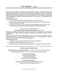 Sales Management Sample Resume