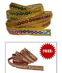 Patti Design Utkarsh Wg0001 011 Multicolor Sitara Zari Gota Patti With