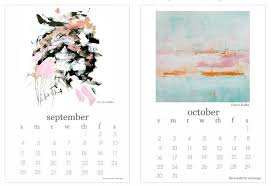2016 Free Printable Calendar: Artist Collaboration Project