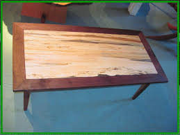 Black Walnut Coffee Table Hand Made Spalted Maple And Black Walnut Coffee Table By Rockledge